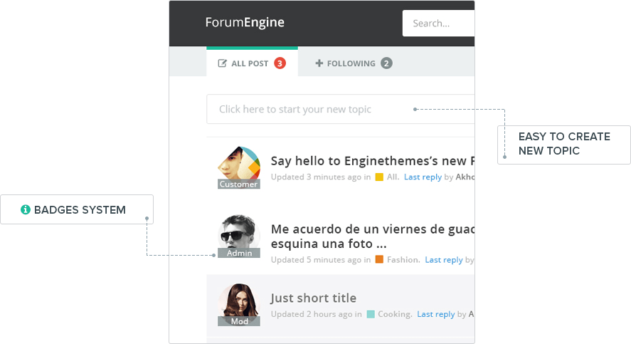 Forum Software, WordPress Forum Theme - ForumEngine