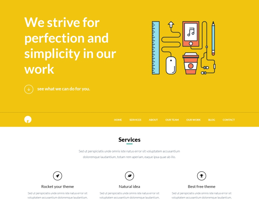 OneEngine - FREE One Page WordPress Theme | EngineThemes
